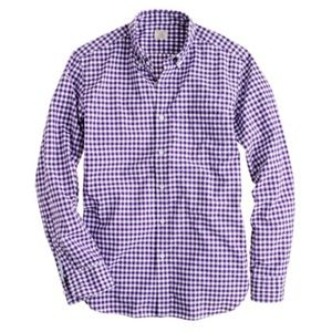 J.Crew Gingham wrinkle-free Voyager dress shirt